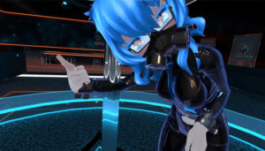 sexy latex and blue hair anime slut preview image